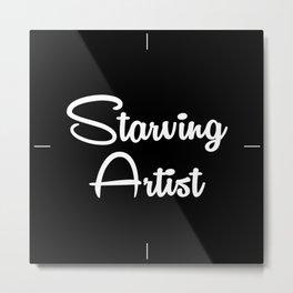 Starving Artist Clock Metal Print
