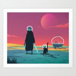 PHAZED PixelArt 6 Art Print