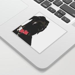 Black Great Dane Dog Sticker