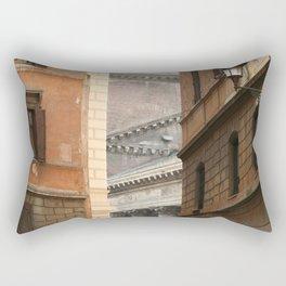 Street View of the Pantheon of Rome Rectangular Pillow