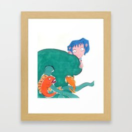 Blue girl. Framed Art Print
