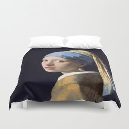 Girl With a Pearl Earring - Vermeer Duvet Cover