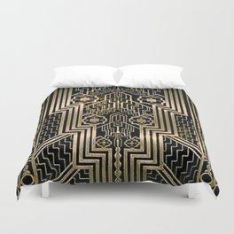 Art Nouveau Metallic design Duvet Cover