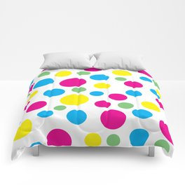 Colorful circles pattern Comforters
