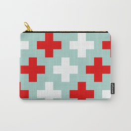 Red and White Crosses Carry-All Pouch