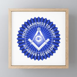 Freemasonry symbol Framed Mini Art Print