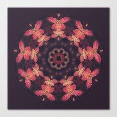 Purple and Orange Nature Mandala Canvas Print