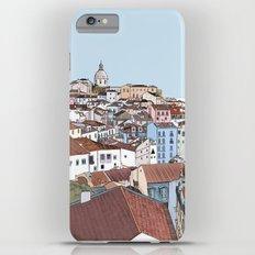 Lisbon cityscape - colours Slim Case iPhone 6 Plus