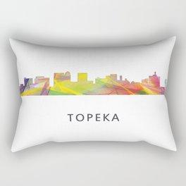 Topeka, Kansas Skyline WB1 Rectangular Pillow
