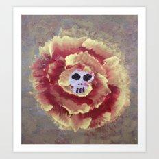 SKULL FLOWER 3 Art Print