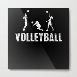 Volleyball Sport Sport Gift Metal Print