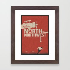 North by Northwest - Alfred Hitchcock Movie Poster Framed Art Print