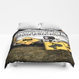 Speed Limit Ahead Comforters