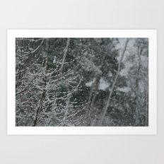 Snowy Day 1 Art Print