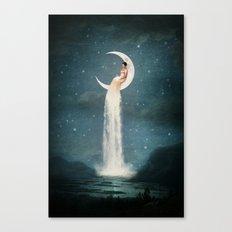 Moon River Lady Canvas Print