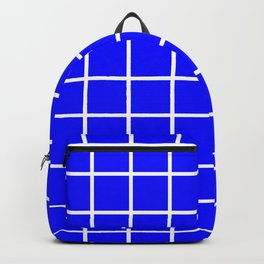 GRID DESIGN (WHITE-BLUE) Backpack