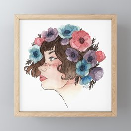 Anemone Crown Framed Mini Art Print