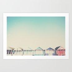 the beach hut ... Art Print