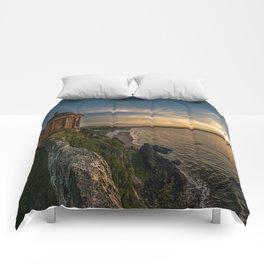 Mussenden Temple,Castle rock,Ireland,Northern Ireland,Antrim Coast Comforters