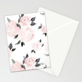 Vintage Blush Floral - BW Stationery Cards