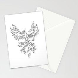White Phoenix Stationery Cards