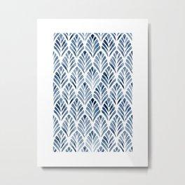 Indigo Forest Metal Print