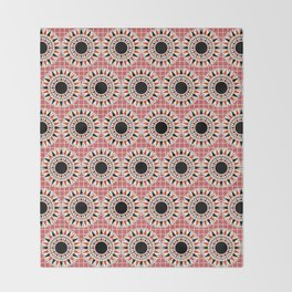 Black stars pattern Throw Blanket