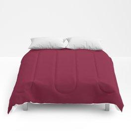 Claret - solid color Comforters