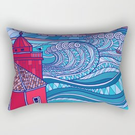 Stormy Sea Rectangular Pillow