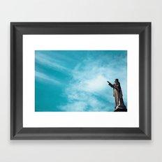 Sky/Statue#1 Framed Art Print