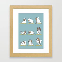 Shih Tzu Yoga Framed Art Print