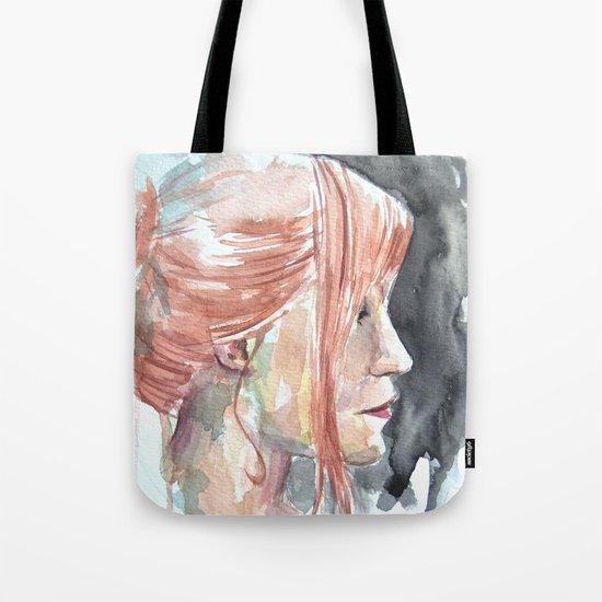 Redhead watercolor Tote Bag