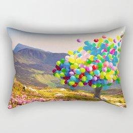 When Balloon Bloom Rectangular Pillow