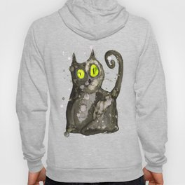 Big fat black cat Hoody