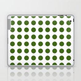 Simply Polka Dots in Jungle Green Laptop & iPad Skin