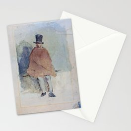 Edouard Manet - The Man in the Tall Hat - Digital Remastered Edition Stationery Cards