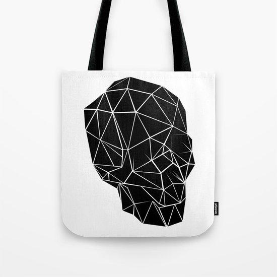 Geometric Skull Tote Bag