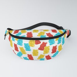 Red, Yellow and Blue Gummy Bear Candy Fanny Pack