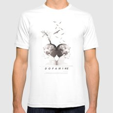 Dopamine | Collage MEDIUM White Mens Fitted Tee