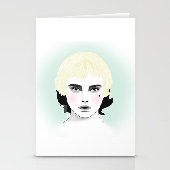 Fashion Illustration - Chanel Yellow  Stationery Cards