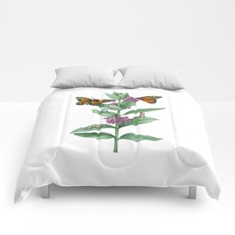 Monarch Butterfly Life Cycle Comforters