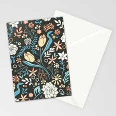 Tulip flowerbed, blue Stationery Cards