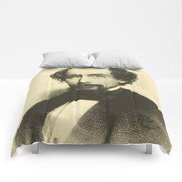 Vintage Charles Dickens Portrait Comforters