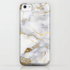 Italian gold marble Slim Case iPhone 5c