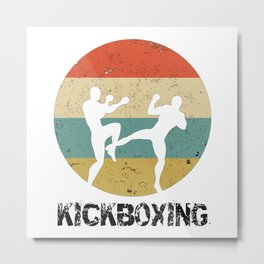 Kickboxing Kickboxer Vintage Gift for Martial Arts Fighters Metal Print