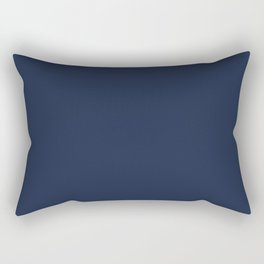 Navy Blue Rectangular Pillow