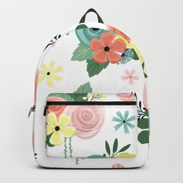 Boho Bohemian Garden Party Pretty Floral Backpack