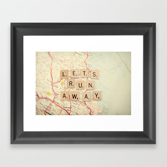let's run away Framed Art Print