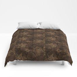 Clockwork Collage Brown Comforters
