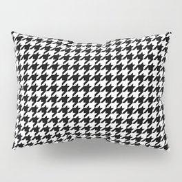 Monochrome Black & White Houndstooth Pillow Sham